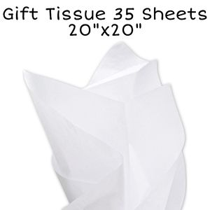 Add-On Gift tissue paper 20x20 35 sheets white